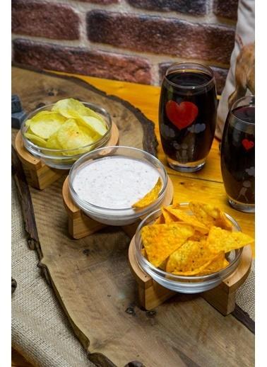 Joy Kitchen  Gardenıa 3'Lü Küçük Salata Kasesi - Ahşap Standlı Renkli